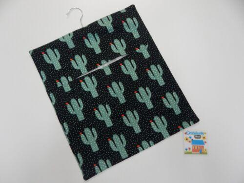 Cactus Black HANDMADE PEG BAG