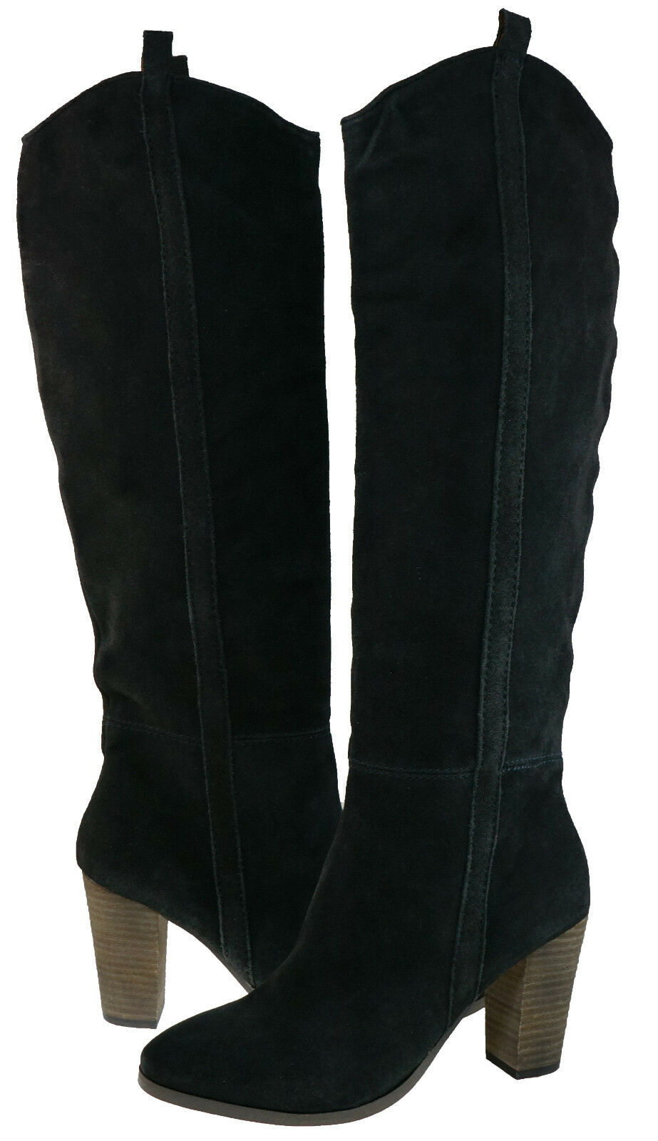 Dolce Vita Damenschuhe Myste Charcoal Pull On Side zipper Tall Knee High Stiefel