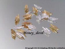 by money_devil Nailart Nageldesign Silber 2 Stück Federn Inlay Charm Overlay
