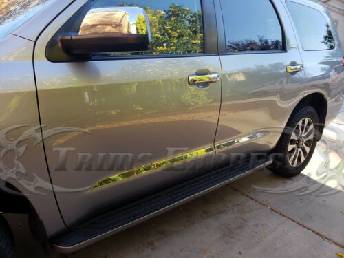 "2008-2018 Toyota Sequoia 4Pc Flat Body Side Molding Trim 1 1//2/"" Stainless Steel"