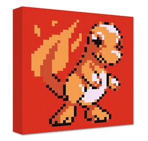 Charmander Pixel Art Canvas Large Wall Art Pokemon Game Room Decoration Geek Ebay
