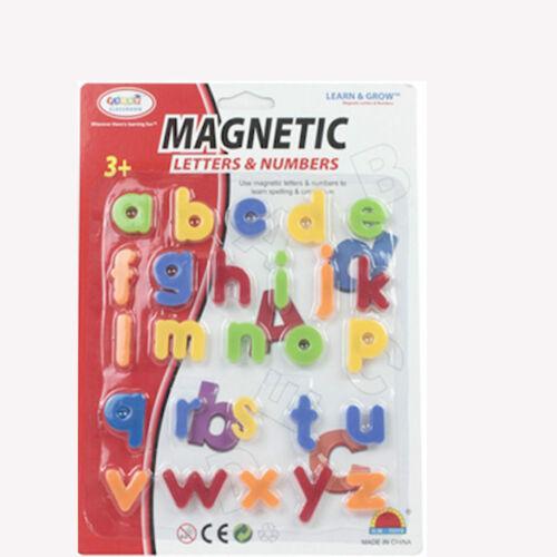 26pcs Piccolo Magnetico Alfabeto A-Z Lettere imparando l/'ortografia giocattolo