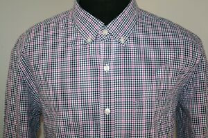 J-CREW-Mens-Slim-Fit-Long-Sleeve-Button-Down-Shirt-Size-XL-Checks