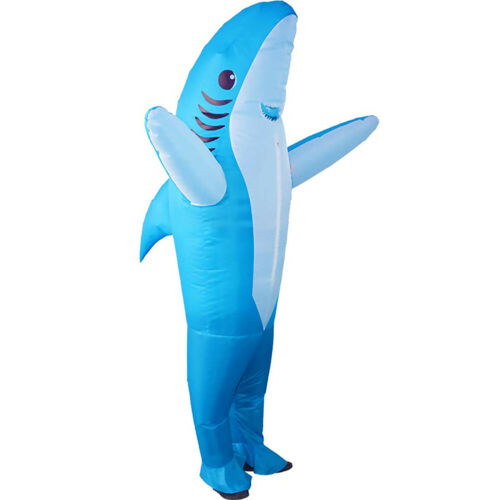 Shark Inflatable Costume Fancy Dress Adult Halloween Suit Cosplay Party Healthy