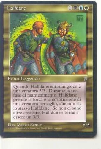 Halfdane NM MTG Legends Italian ITLE Magic Gathering