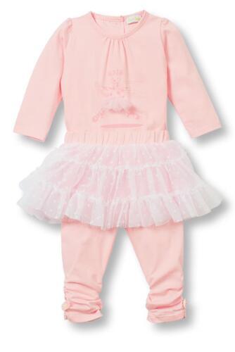 Le Top Baby Girls Le Ballet Giraffe Bodysuit Tulle Skirted Legging Ballerina Set