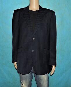 54 De En État A Fr Cacharel Taille Super Noir Costume Rayure Veste f1Tq0T