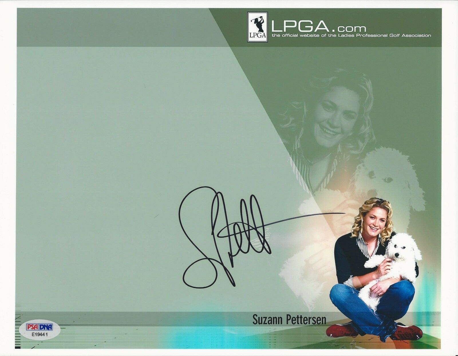 Suzann Petersen LPGA Golf signed 8x10 photo PSA/DNA #E19441