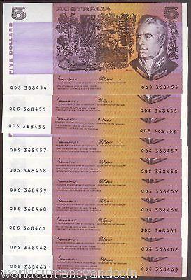 Australia 5 Dollars P44 E 1985 Ship John/fraser Running # 10 Pcs Bank Note Money To Win A High Admiration Australia Coins & Paper Money