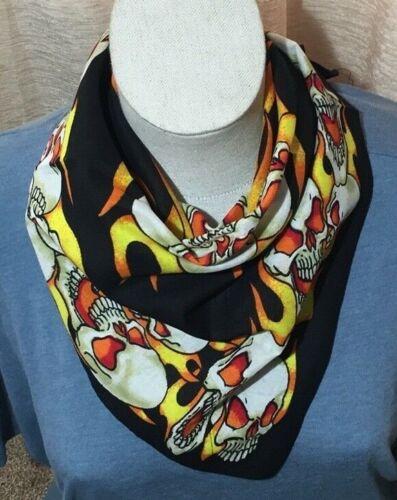 Skulls /& Flames Design Bandana Head Scarf Neck Tie G16A