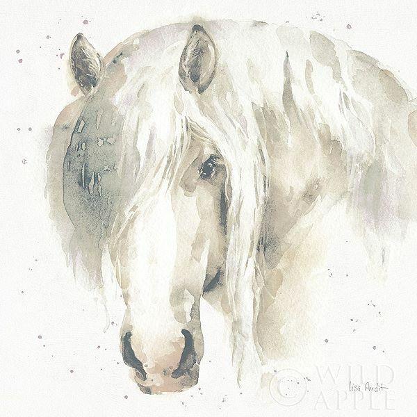 Lisa Audit  Farm Friends IV Keilrahmen-Bild Leinwand Bauernhof Pferd Tiere grau