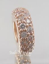 INSPIRATION WITHIN Authentic PANDORA Rose GOLD Plated/Cz SPACER Charm/Bead NEW