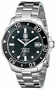 Tag-Heuer-WAN2110-BA0822-Aquaracer-41MM-Men-039-s-Automatic-Stainless-Steel-Watch