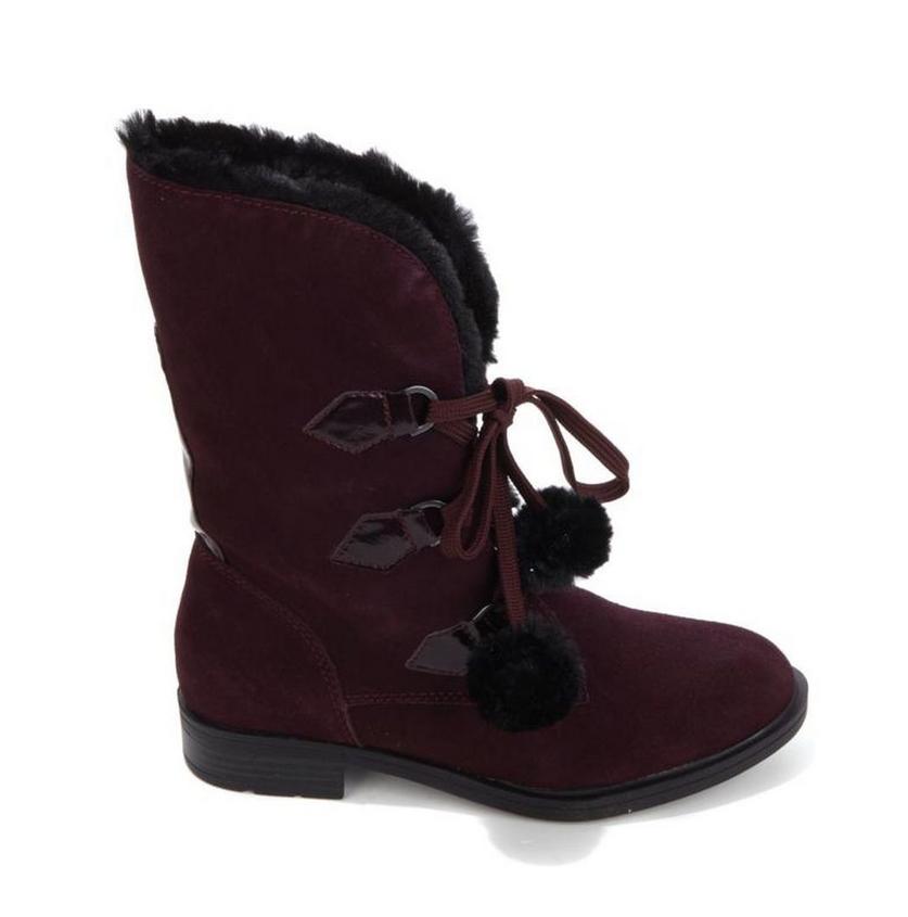 Sporto® Water-Resistant Pixie Suede Boot, Wine 6.5W