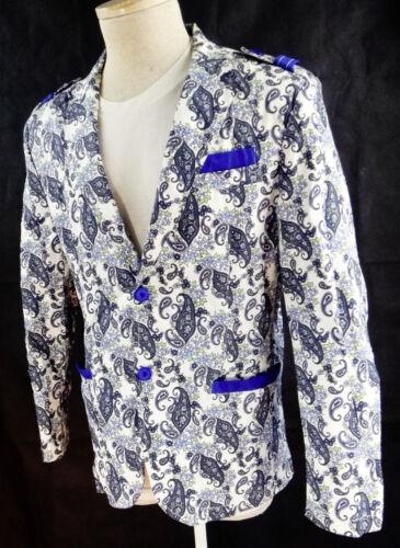 PAISLEY MEDIUM blazer blue sport jacket suit smoki