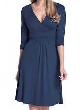 9272f0c31603 Glamour Empire Women s Knee Length 3 4 Sleeve Viscose Circle Skater Dress  282