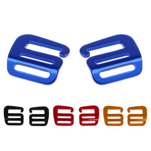 2 Pcs G Hook Webbing Buckle Quick Release for Backpack Strap Belt Blue