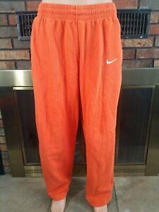 Nike-Dri-Fit-brode-orange-Swoosh-Warm-up-Bas-Jogging-Homme-GRANDE-TAILLE-337293-820