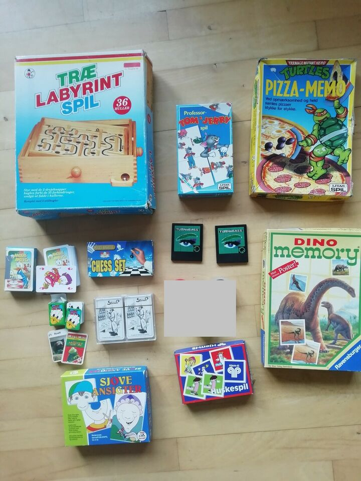 Mange forskellige spil til 100 kr. samlet, Familiespil,