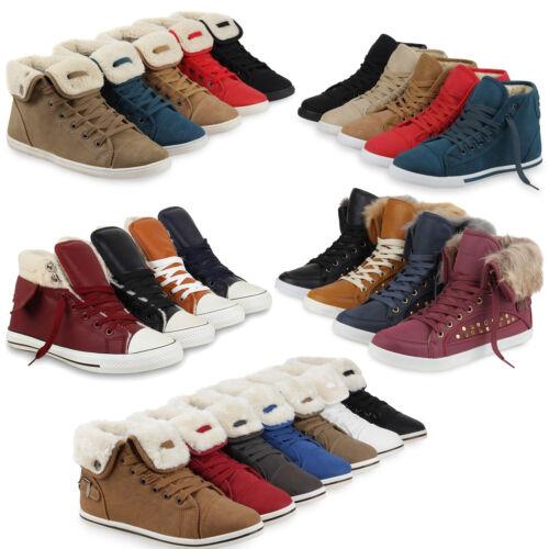 892768 Warm Gefütterte Damen Sneakers High Top Sportschuhe Gesteppt Schuhe