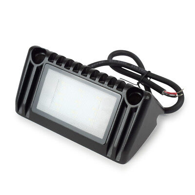 RV Camper Marine Black LED Porch Light Clear Lens Without Switch 220 Lumen 12V