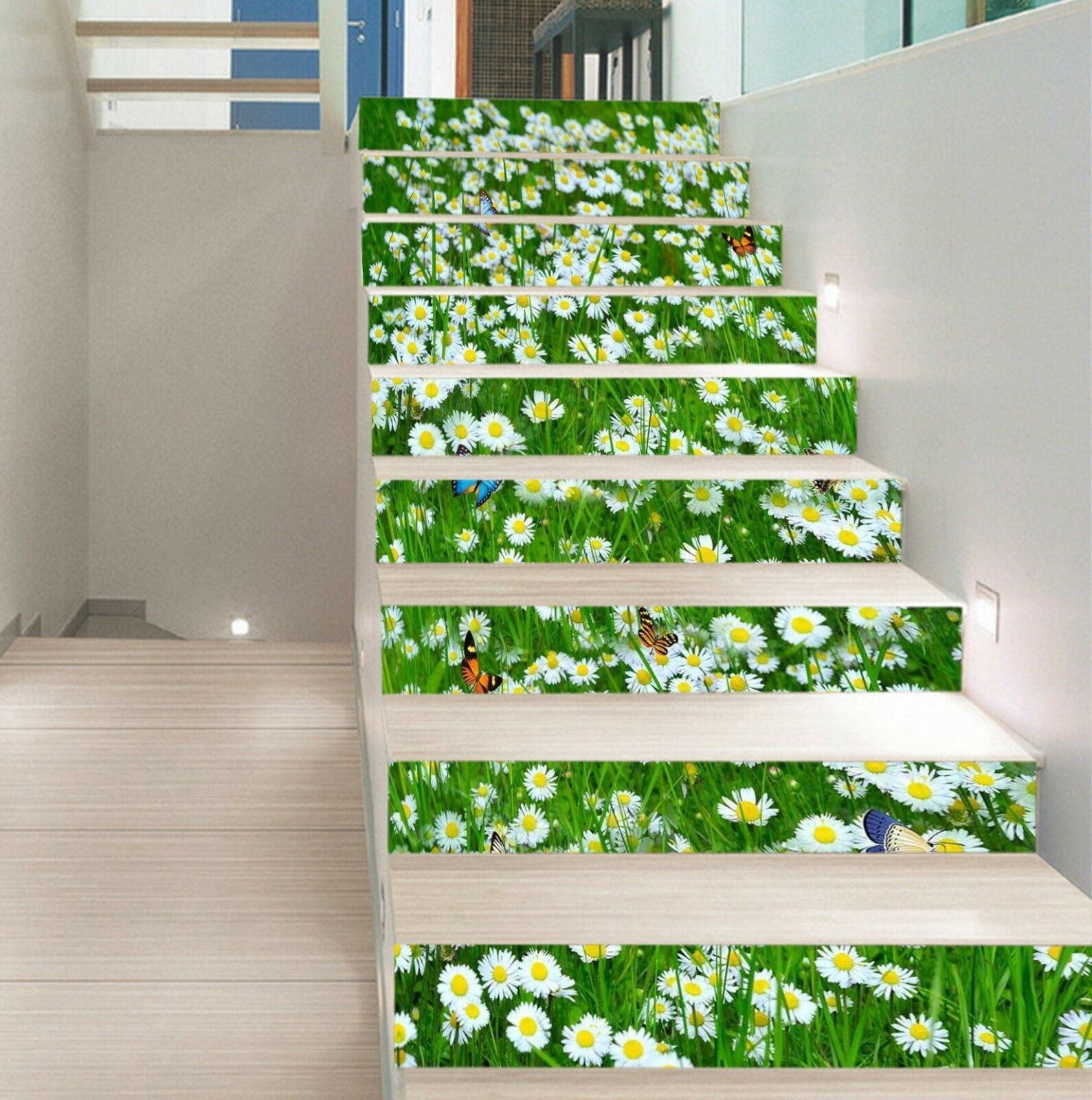 3D Flowers Meadow Stair Risers Decoration Photo Mural Vinyl Decal Wallpaper US