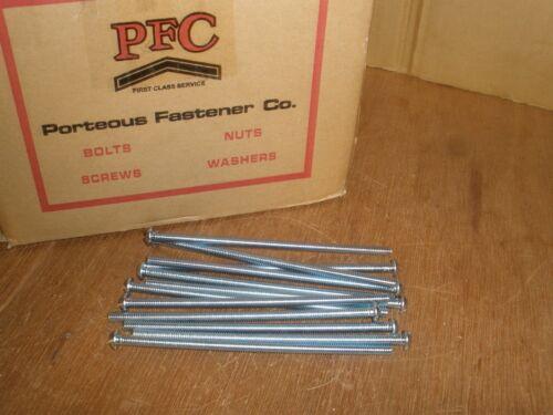 "1//4-20 X 6/"" Round Head Slotted Zinc Full Thread Machine Screws Qty.38"