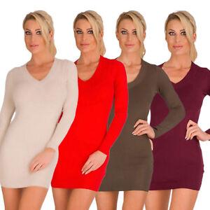 10280-Damen-Feinstrick-Minikleid-Damen-Longpullover-dress-Strickkleid-Pullover