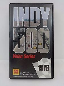 1976 Indianapolis 500 VHS Video Tape IndyCar Johnny Rutherford McLaren