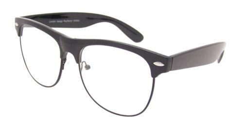 Medium Schwarz Gold Retro Hornbrille Damen Herren Klarglas Brille Vtg 50er