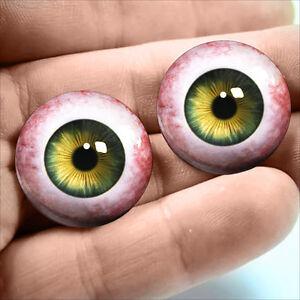 20mm Hazel Green Human Taxidermy Glass Eyeballs Doll Jewelry Halloween Supplies