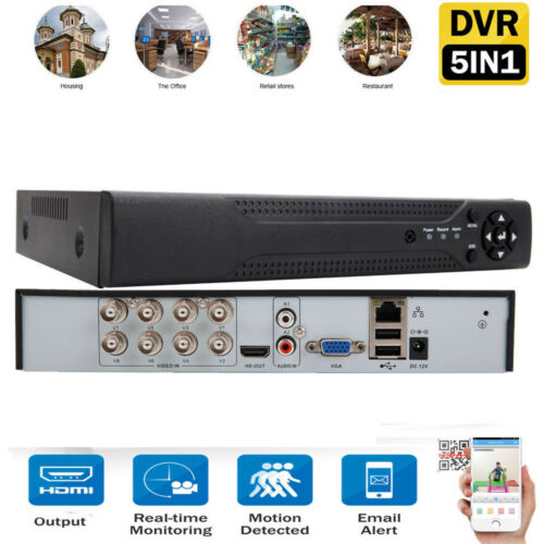 8CH 5in1 1080N DVR Digital Video Recorder Motion Detection for Security Camera