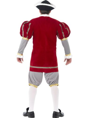 Adulto Uomo Re Enrico VIII 8th Costume Tudor medievale storica