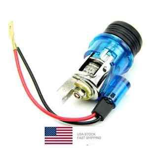 12V-Car-Motorcycle-Boat-Cigarette-Lighter-Power-Socket-Plug-BLUE