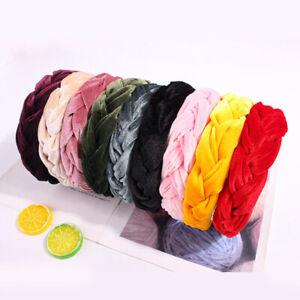 Women-Braided-Hair-Hoop-Twisted-Wide-Velvet-Cross-Headband-Hair-Accessories-New