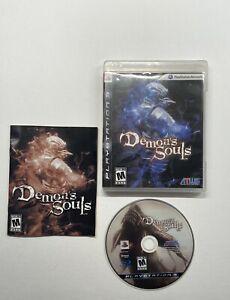 Demon-039-s-Souls-Sony-PlayStation-3-2009-COMPLETE-BLACK-LABEL-Disc-Marks-ATLUS