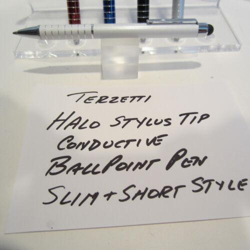 TERZETTI HALO-CT-SLIM//SHORT WHITE BALLPOINT PEN--CONDUCTIVE TOP