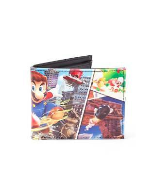 OFFICIAL NINTENDO - SUPER MARIO ODYSSEY ALL OVER PRINT BI-FOLD WALLET (NEW)