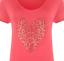 Plus-Size-Ladies-Short-Sleeve-Leopard-Print-Stud-Heart-Long-T-Shirt-Casual-Top thumbnail 18