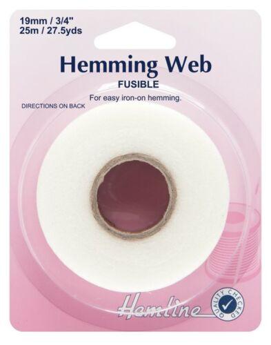 Hemline Hemming Tape Wonder Web No Sewing Needed Just Iron On Fabrics 19mm X 25M