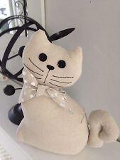 Adorabile Gatto Porta Biancheria STOP CON FIOCCO A POIS & pulsante occhi