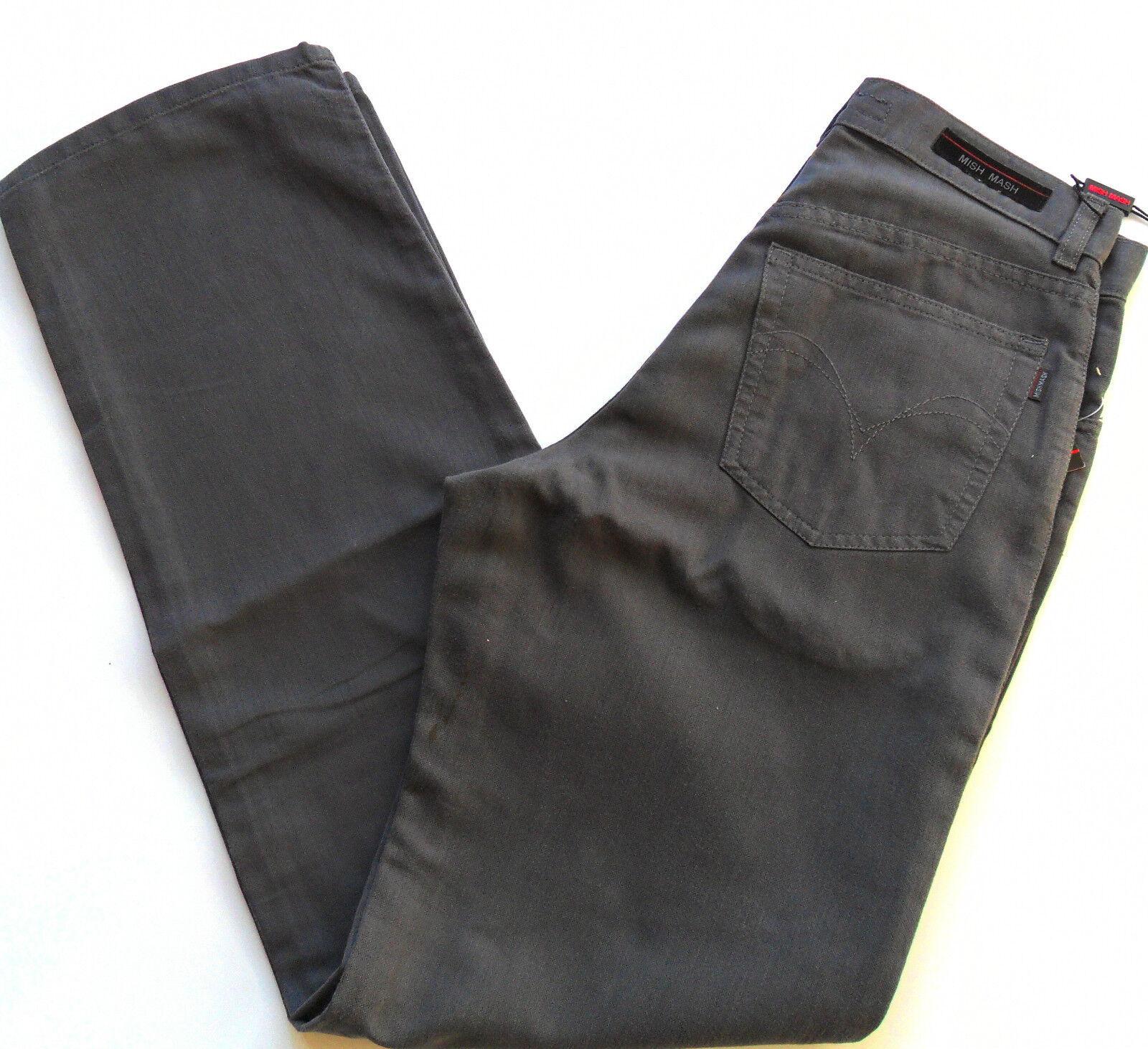 Mish MASH Da Uomo Comfort Fit Pantaloni Pantaloni Blu Scuro Vita 30 32 34 36 Oliver