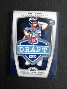 Details About 2010 Topps Nfl Draft Tim Tebow Rookie Patch Card Denver Broncos