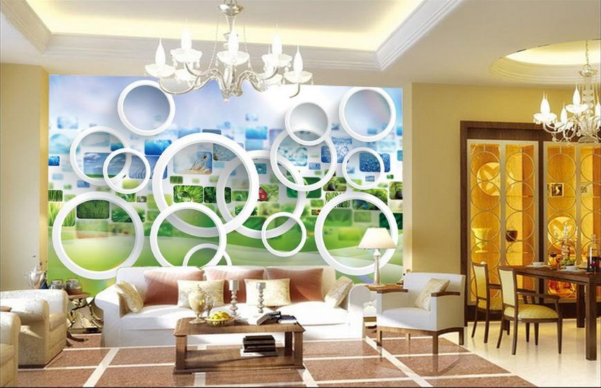3D Circle Image 57 Wallpaper Murals Wall Print Wallpaper Mural AJ WALL AU Lemon