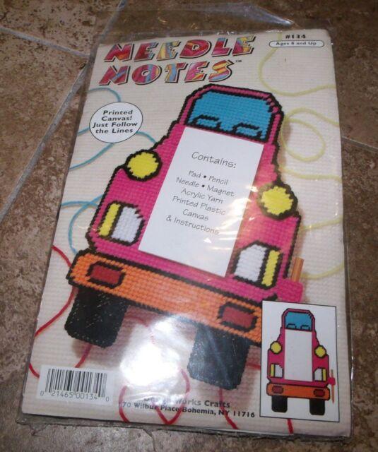 Design Works Cute TURTLE Needle Notes Plastic Canvas Kit  Beginners Kids