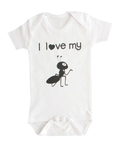 Funny Baby  Clothing I Love My Aunt ant Baby One-Pieces Baby Clothes
