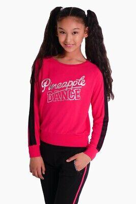 Pineapple DANCEWEAR GIRLS Mesh Panel Double Layer Dance Top Tee Black//Pink