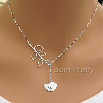 Halskette Damenkette Necklace mit Vogel Anhänger Schmuck