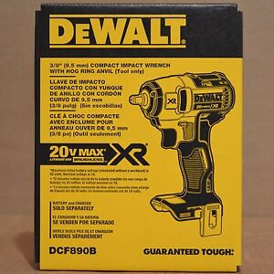"Brand New DEWALT DCF890B 20V Max XR 3/8"" Compact Impact Wrench"