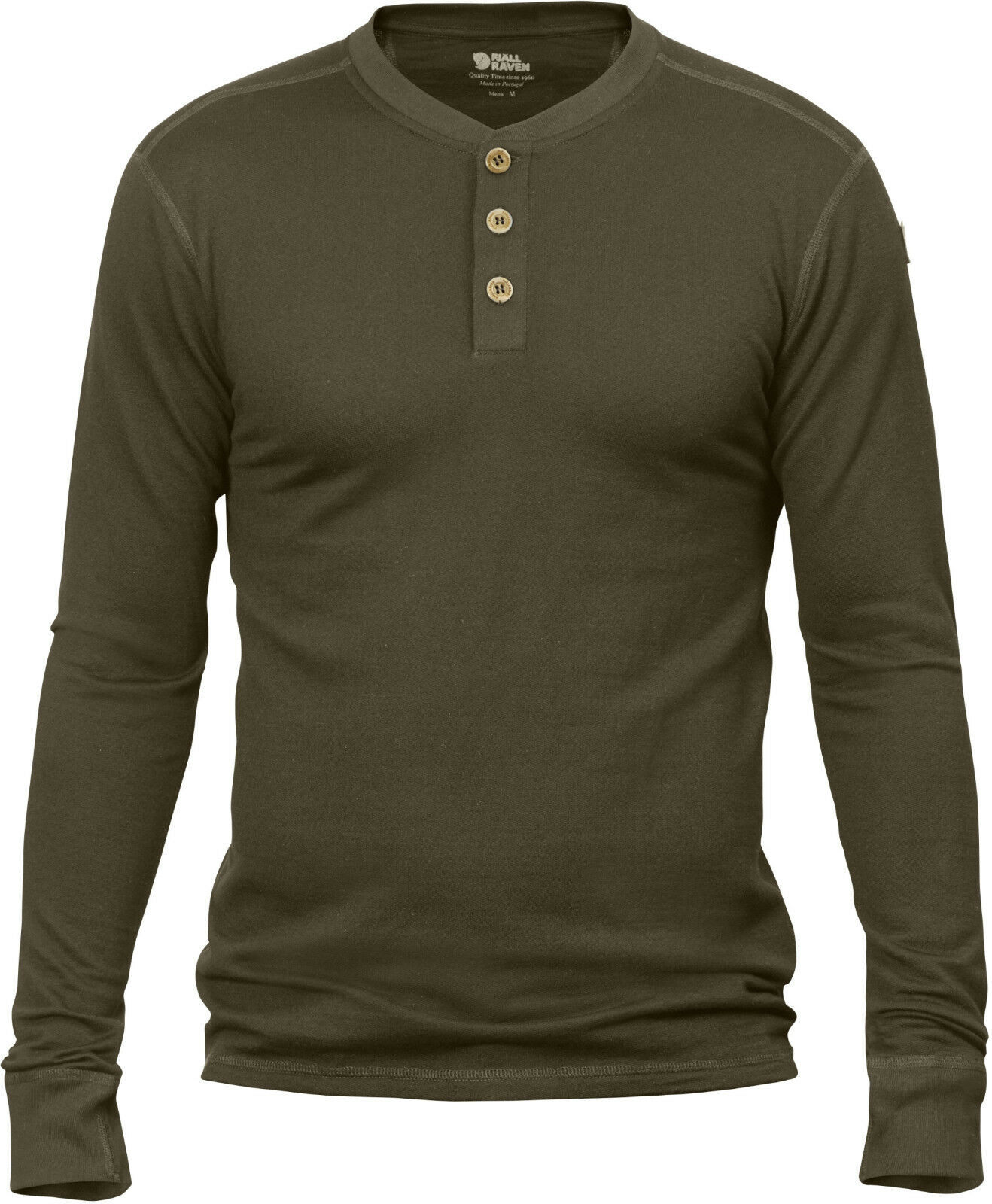 Fjällräven Lappland Merino Henley LS Shirt 90188 dark oliv Unterhemd Base Layer